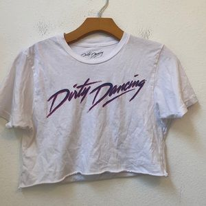 DIRTY DANCING WHITE GRAPHIC CROP TOP SIZE S